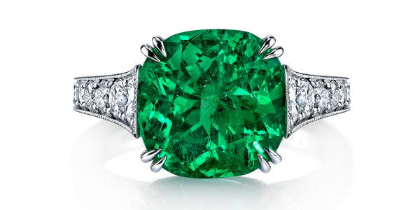 Omi Prive Emerald Engagement Ring