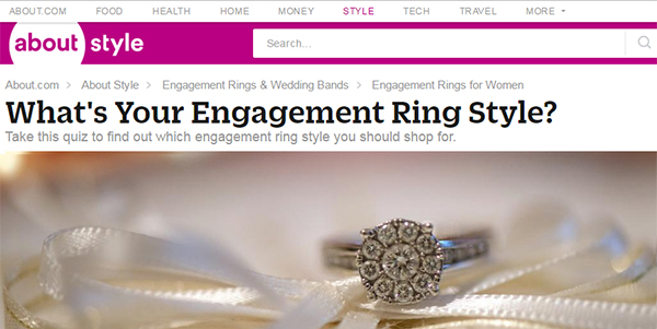 Engagement Ring Style Quiz