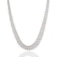 platinum born lace necklace