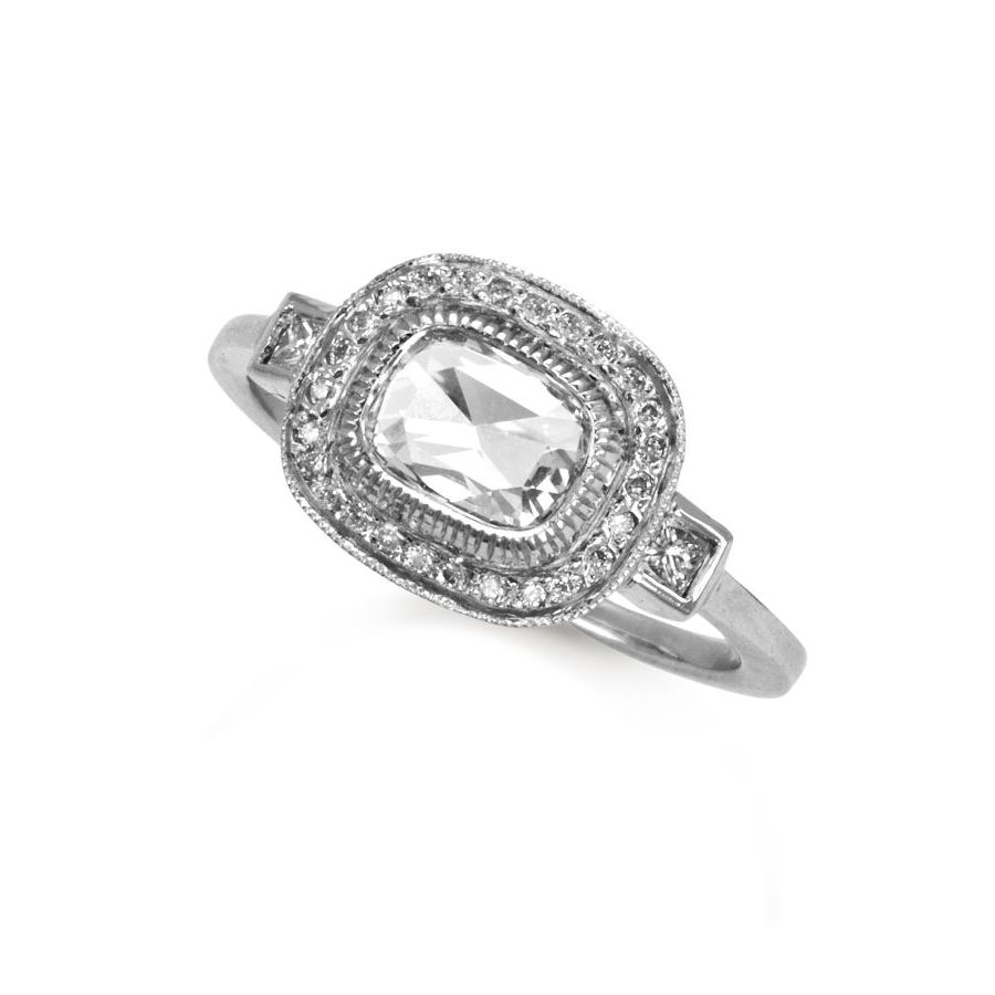 wedding platinum full brilliant round diamond cut the collection ring eternity raphael image half