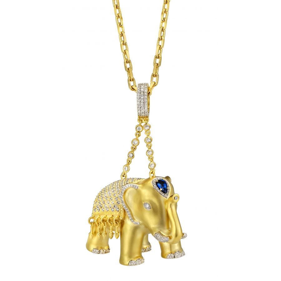 pendant a silver charm good sterling luck on chain dogeared necklace elephant