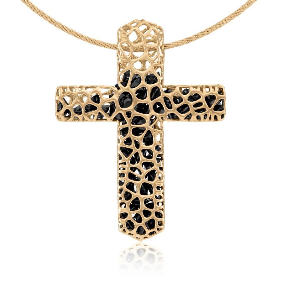 Gold cross necklace audiocablefo