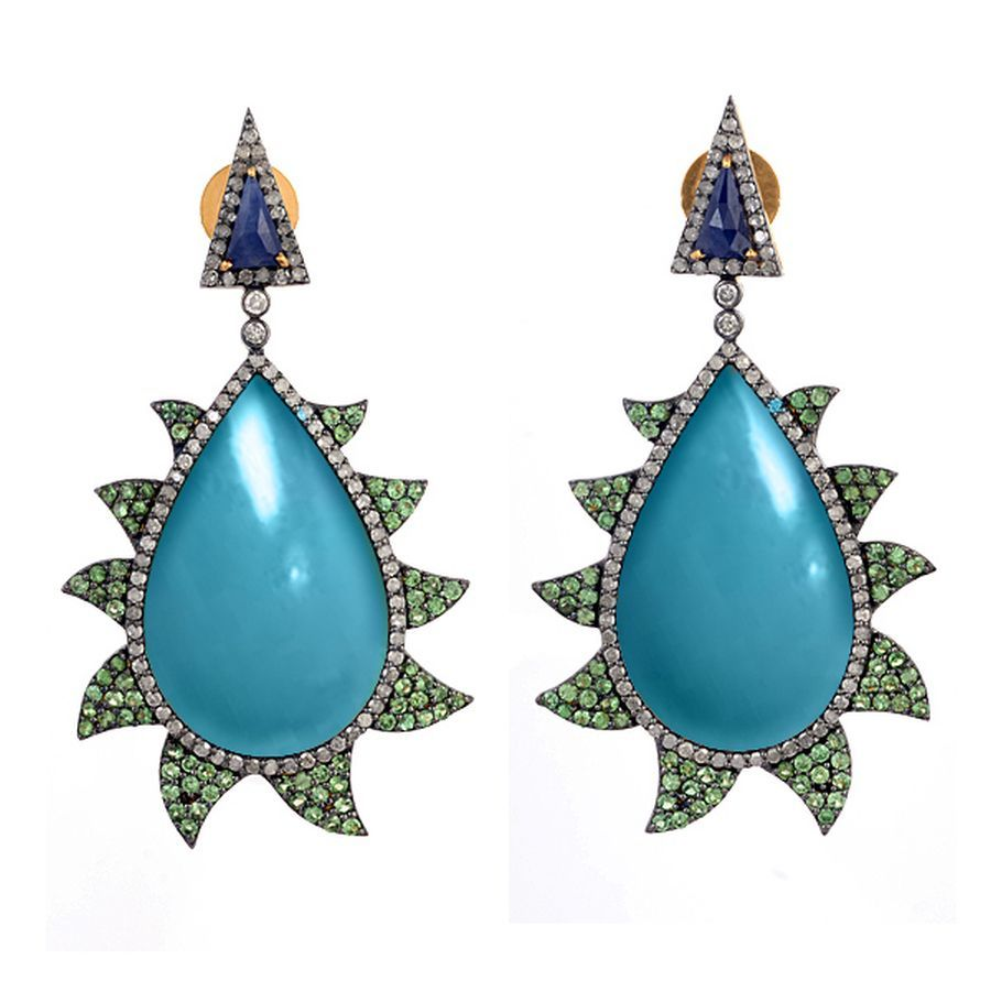 1000987_20151111170359_15_Small_Claw_Earring-Turquoise___Tsavorite.jpg
