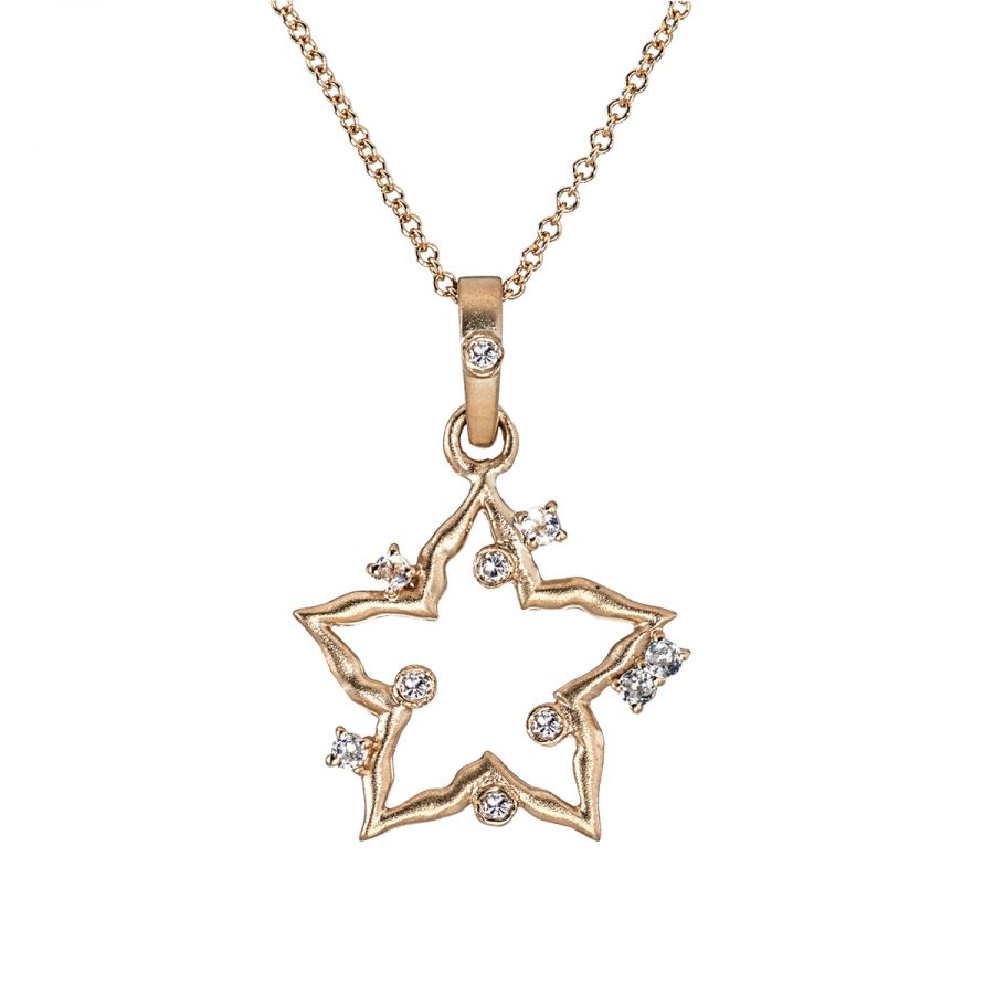 crystal necklace wholesale rhinestone fashion setting women product shape turquoise birthday star pendant sterling gift box double chain silver