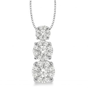 3-Stone Diamond Pendant