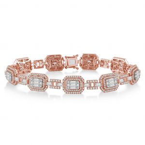 Diamond and Rose Gold Bracelet