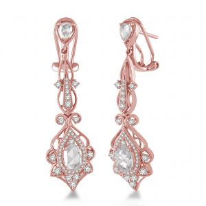 Diamond and Rose Gold Earrings