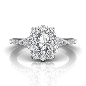 Promise Cut Engagement Ring