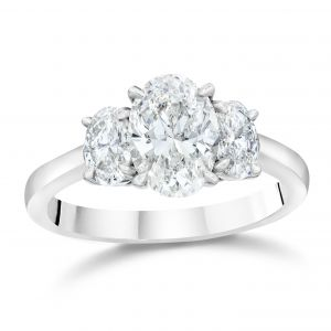 Oval Three-Stone Engagement Ring