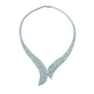 Fancy Cut Diamond Necklace