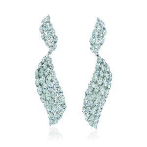 Fancy Cut Diamond Earrings