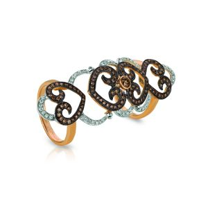 Chocolate Diamond Knuckle Ring