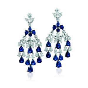 Blueberry Sapphire Earrings