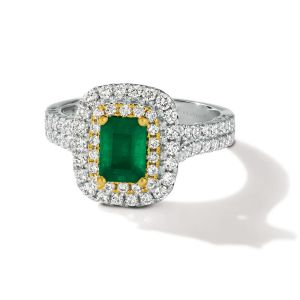 Two Tone Platinum Collection™ Emerald Ring