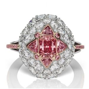 Pink Star Flower Ring