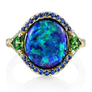 Opal 3-Stone Ring