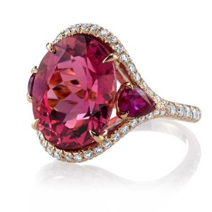 Tourmaline and Ruby Ring