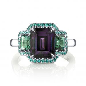 Spinel, Tourmaline and Alexandrite Ring