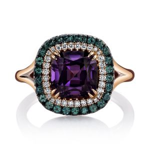 Spinel and Alexandrite Ring
