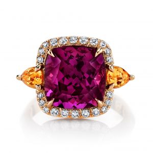 Rhodolite and Spessartite Ring