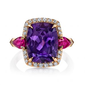 Spinel and Ruby Ring