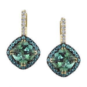 Tourmaline & Alexandrite Earrings