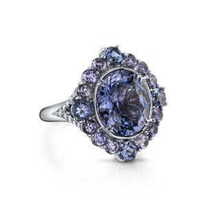 Lavendar Spinel Ring