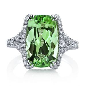 Green Tsavorite Ring
