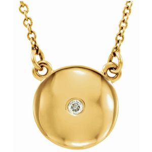 Diamond Domed Necklace
