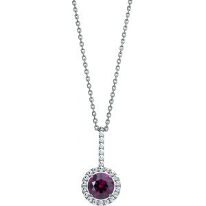 Garnet and Diamond Necklace