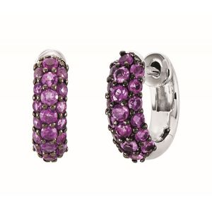 Amethyst Mini Hoop Earrings