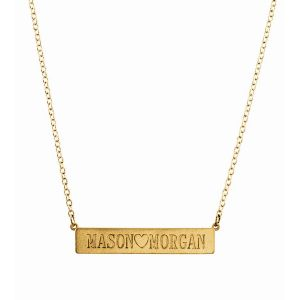 Engravable Rectangle Necklace