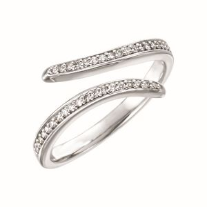 Diamond Bypass Ring
