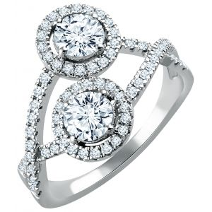 Diamond 2-Stone Ring