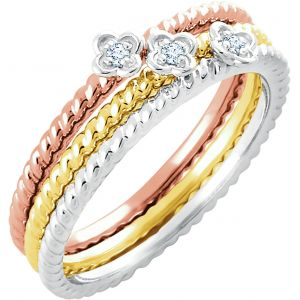 Tricolor Stackable Rings