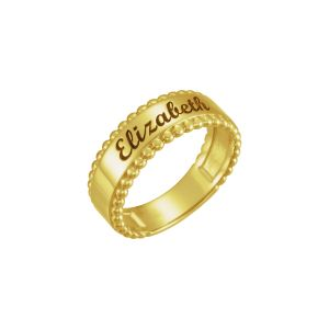 Engravable Beaded Ring