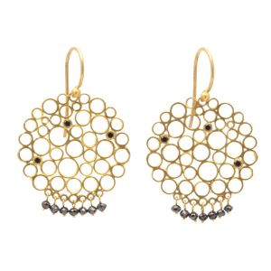 Gold Lace Hook Earrings