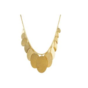Gold Fringe Mango Necklace