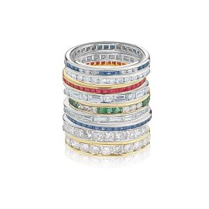 Stacking Diamond & Gemstone Rings