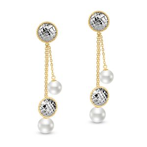 Sophia Diamond Cut Circle Tassel Earring