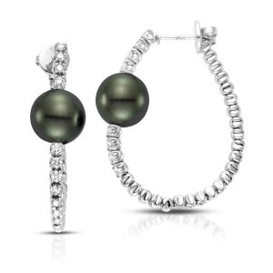 Amalfi Pearl Hoop Earrings