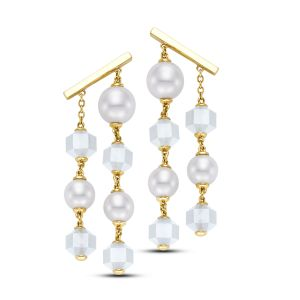 Pearl and Moonstone Drop Earrings