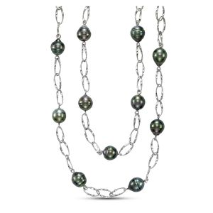 Tahitian Pearl Layered Chain Necklace