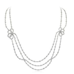 Diamond Bowlero Necklace