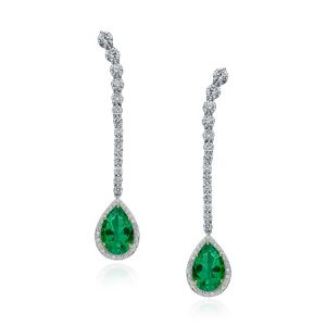 Emerald Cascade Earrings