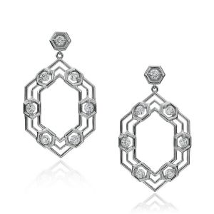 B Honeycomb Earrings