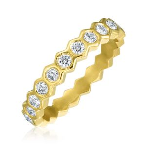Honeycomb Eternity Band