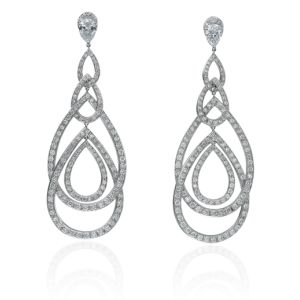 Diamond Peacock Earrings