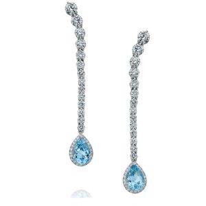 Aquamarine Cascade Earrings