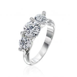 Twinset 3 Stone Engagement Ring